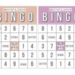 Bowling Bingo Printable Card 01   Box | Bingo Cards