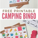 Camping Bingo Free Printable Cards | Camping Bingo, Camping