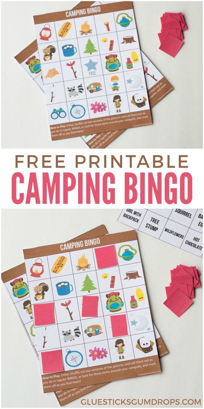 Camping Bingo Free Printable Cards | Walmart Kick Off 2018