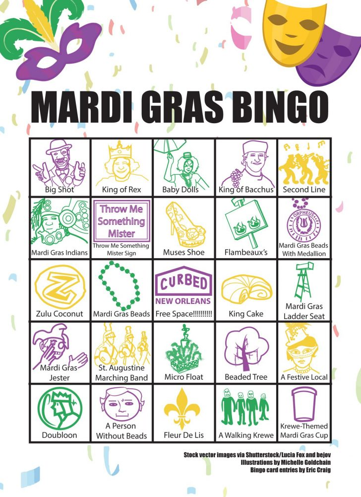 Mardi Gras Bingo Cards Printable