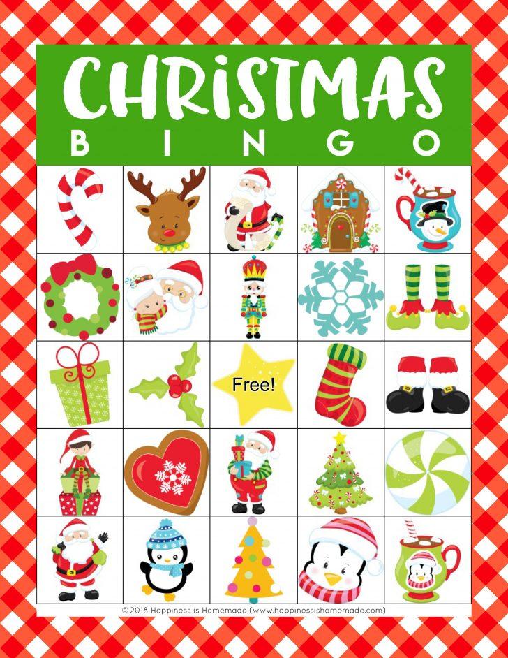 Free Printable Christmas Bingo Game Cards