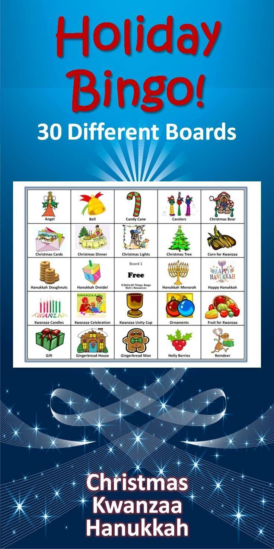 Christmas, Hanukkah, Kwanzaa Bingo Game | Christmas Crafts