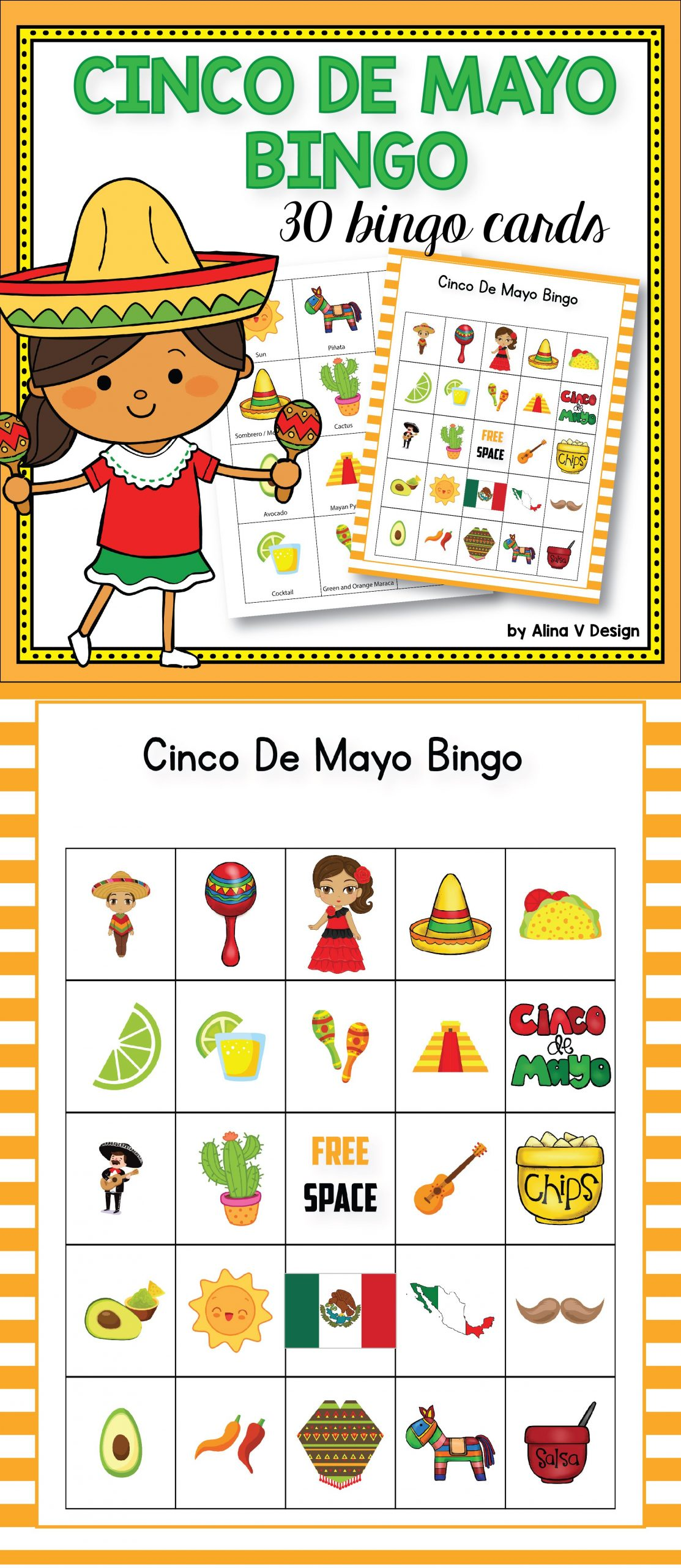 Cinco De Mayo Bingo | Bingo For Kids, Cinco De Mayo, Cinco