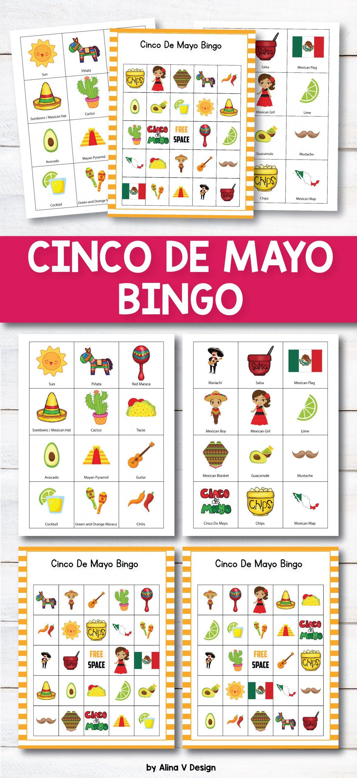 Cinco De Mayo Bingo | Cinco De Mayo Activities, Learning