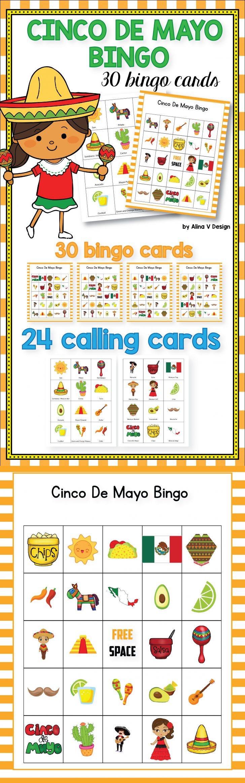 Free Printable Cinco De Mayo Bingo Cards