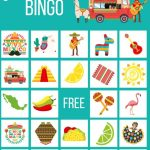 Cinco De Mayo Party Game, Mexican Bingo Cards Birthday Game