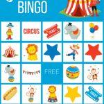 Circus Theme Bingo Cards, Birthday Party Game   Children