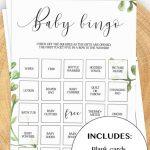 Classic Baby Bingo Gender Neutral Baby Shower Game Printable