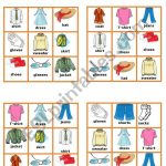 Clothes   10 Bingo Cards   Esl Worksheetpetili