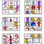 Clothes & Accessories   Bingo Cards   English Esl Worksheets