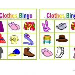 Clothes Bingo   English Esl Worksheets For Distance Learning