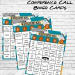 Company Conference Call Bingo Cards | Retirement Party Bingo Game |  Conference Call Bingo Game | Instant Download For An Office Party!