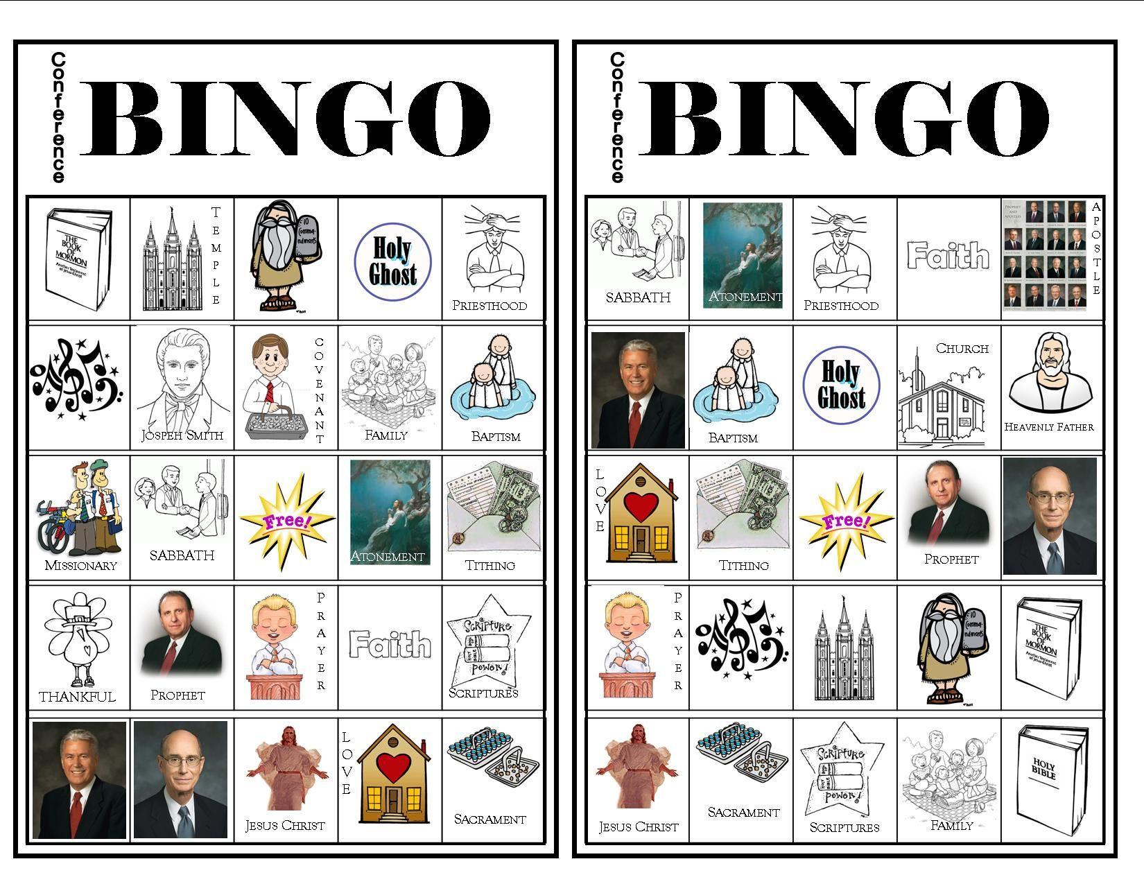 Conference Bingo #3 - More Bingo Cards For General