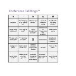 Conference Call Bingo | Straight Outta Boise | Conference