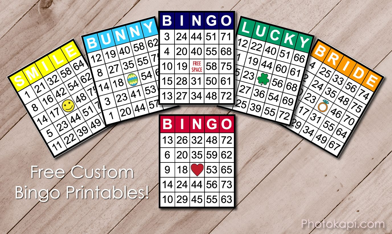 Custom Bingo Printables | Custom Bingo Cards, Bingo Card