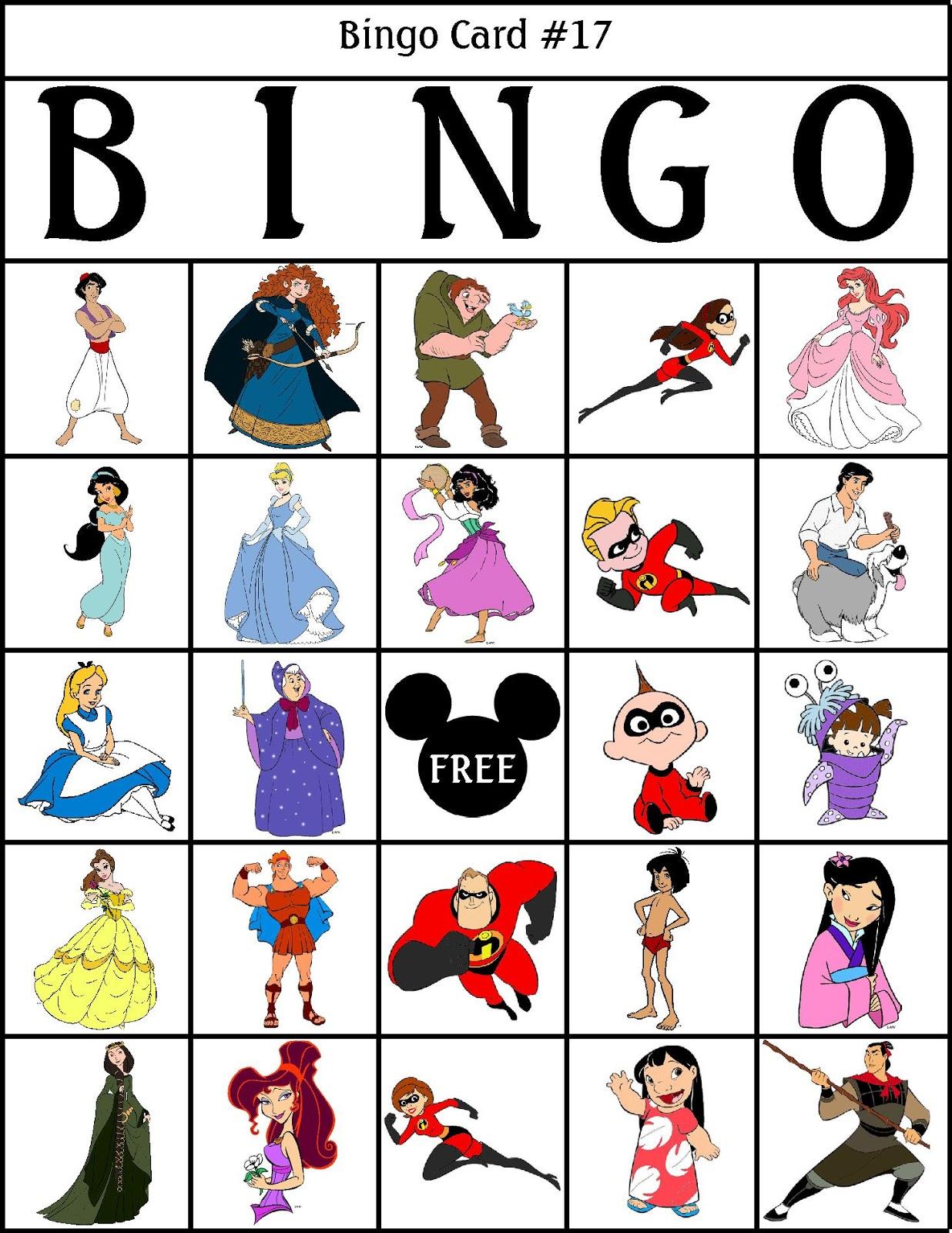 Disney Bingo Printable Cards - C # Ile Web' E Hükmedin!