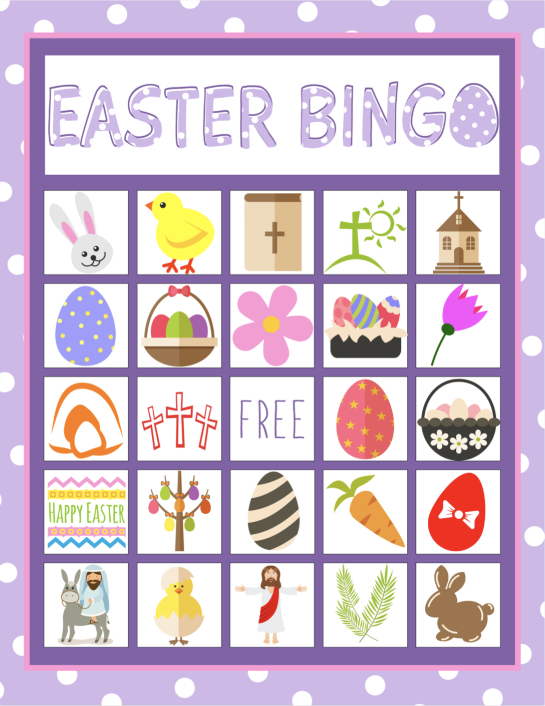 Easter Bingo Game For Kids | Bingo Games For Kids, Easter