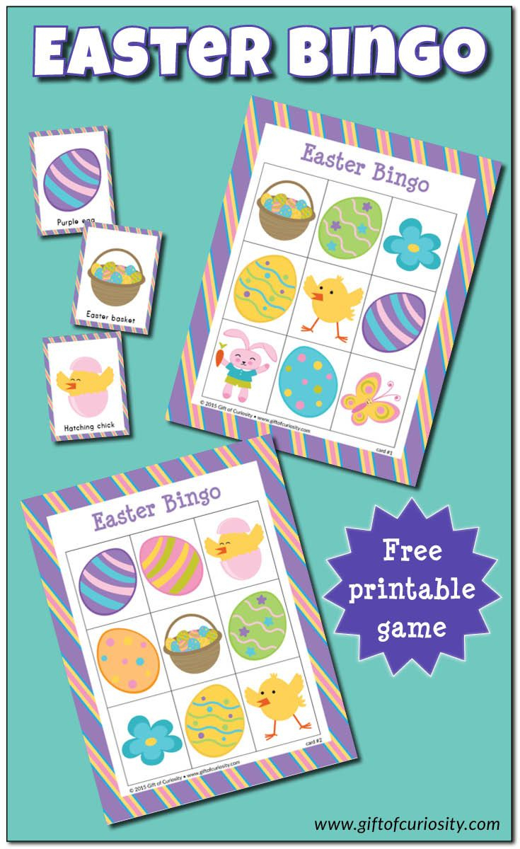 Easter Bingo Game {Free Printable} | Easter Bingo, Easter