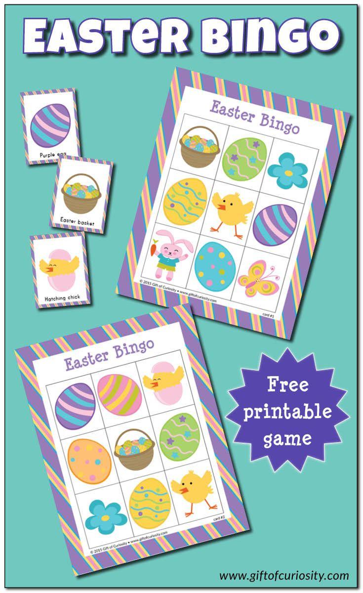 Easter Bingo Game {Free Printable} | Easter Bingo, Easter
