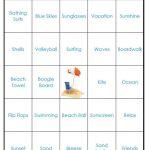 Easy Print Beach Bingo Cards (Digital File) 40 Cards