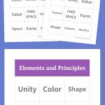 Elements And Principles Bingo | Art Elements And Principles