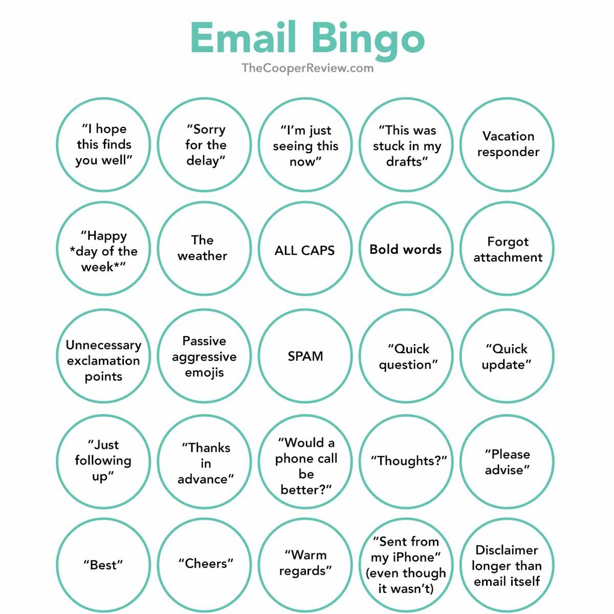 Email Bingo | Bingo, Fun At Work, Conference Call Bingo
