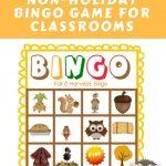 Fall And Harvest Class Bingo Free Printable | Free Bingo