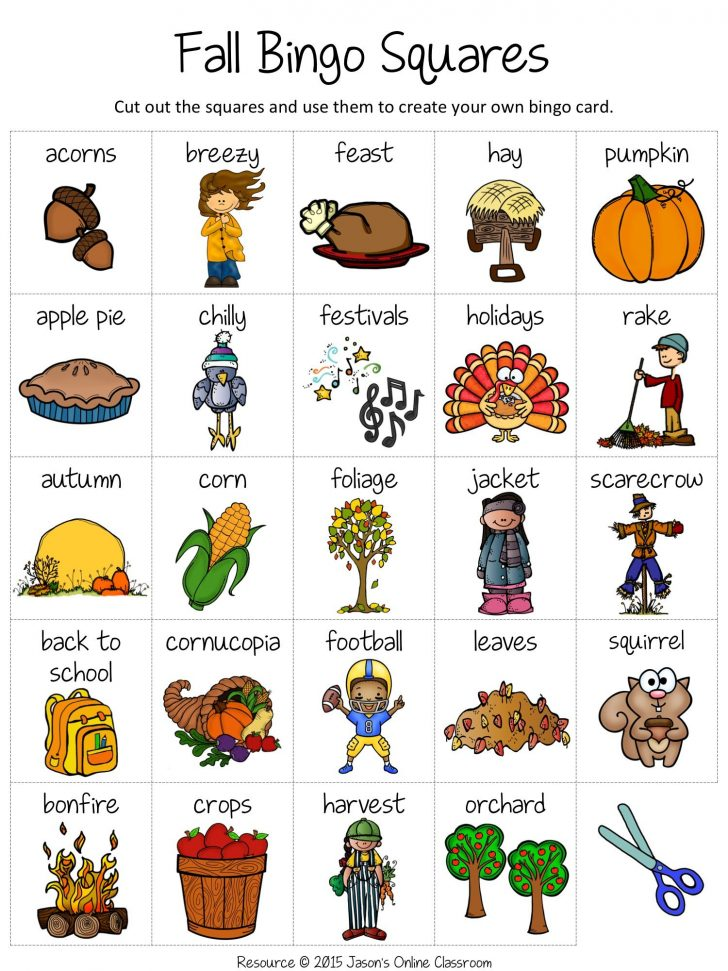Harvest Bingo Free Printable Cards