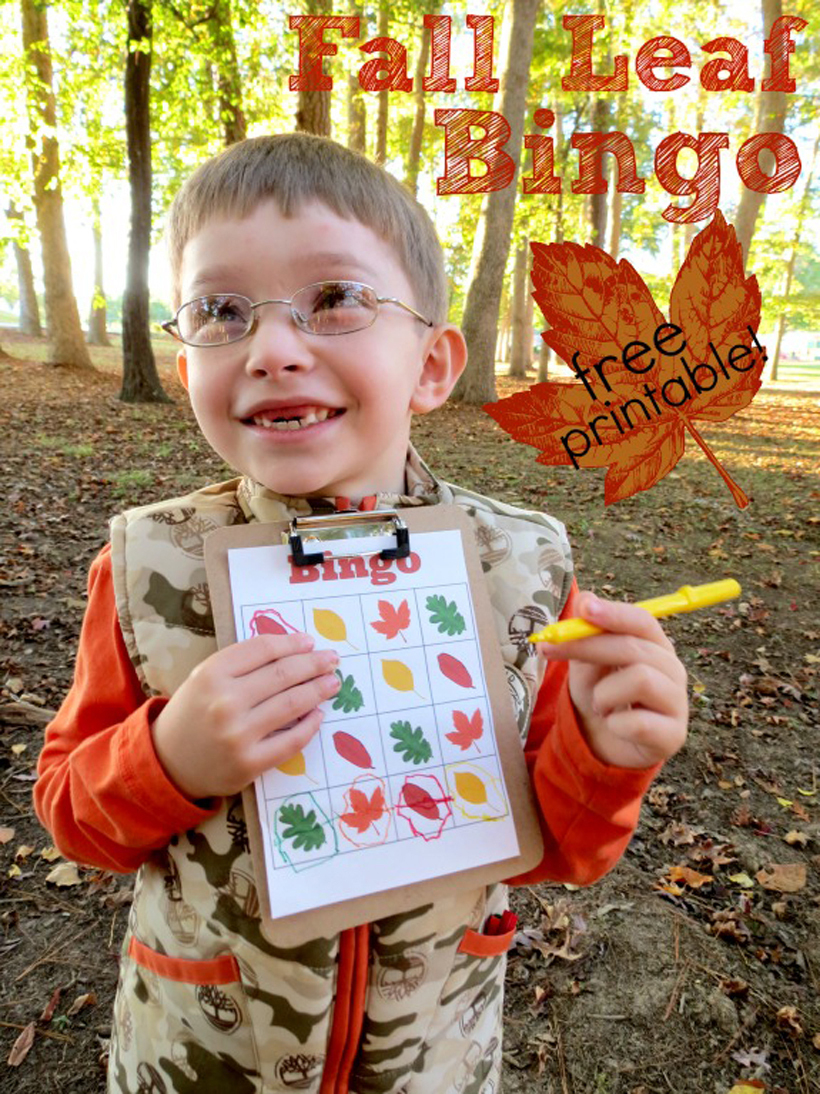 Fall Leaf Bingo: A Free Printable Family Game | Melissa