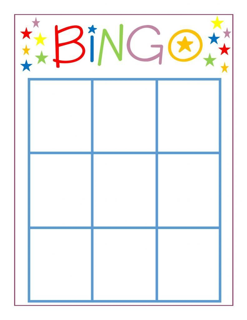 Family Game Night: Bingo | Bingo Card Template, Blank Bingo