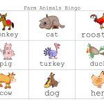Farm Animal Bingo   English Esl Worksheets For Distance