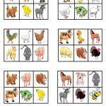 Farm Animals   Bingo | Bingo Para Crianças, Animais Da