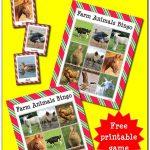 Farm Animals Bingo {Free Printable}   Farm Activities, Farm