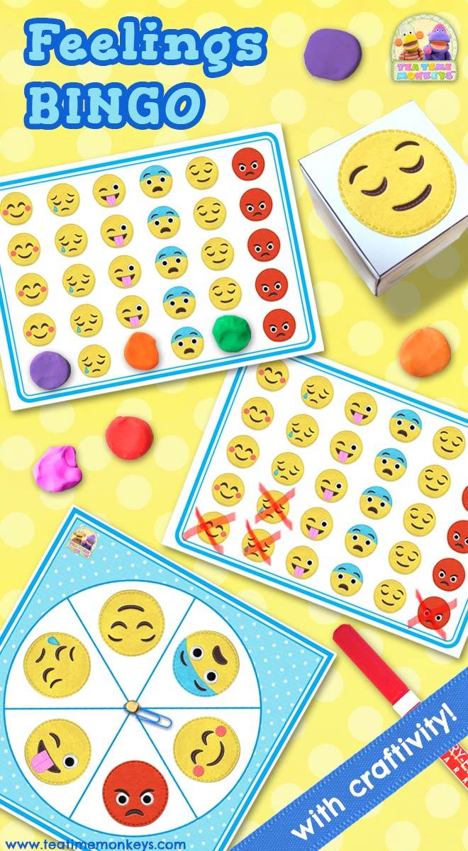 Feelings Bingo - An Editable Dice / Spinner Game With
