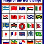Flags Of The World Bingo   Free Printable (Only Enough For 6