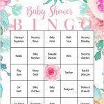 Floral Baby Bingo Cards   Printable Download   Prefilled