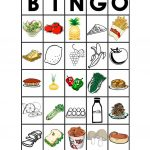 Food Bingo   English Esl Worksheets For Distance Learning