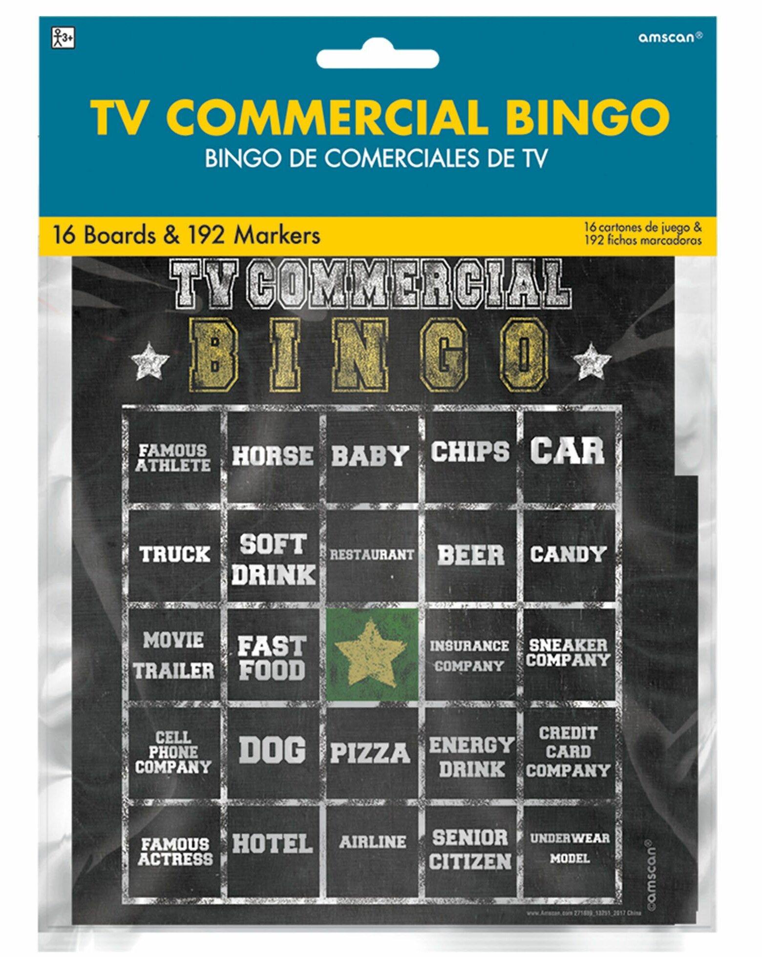 Football Commercial Bingo Game