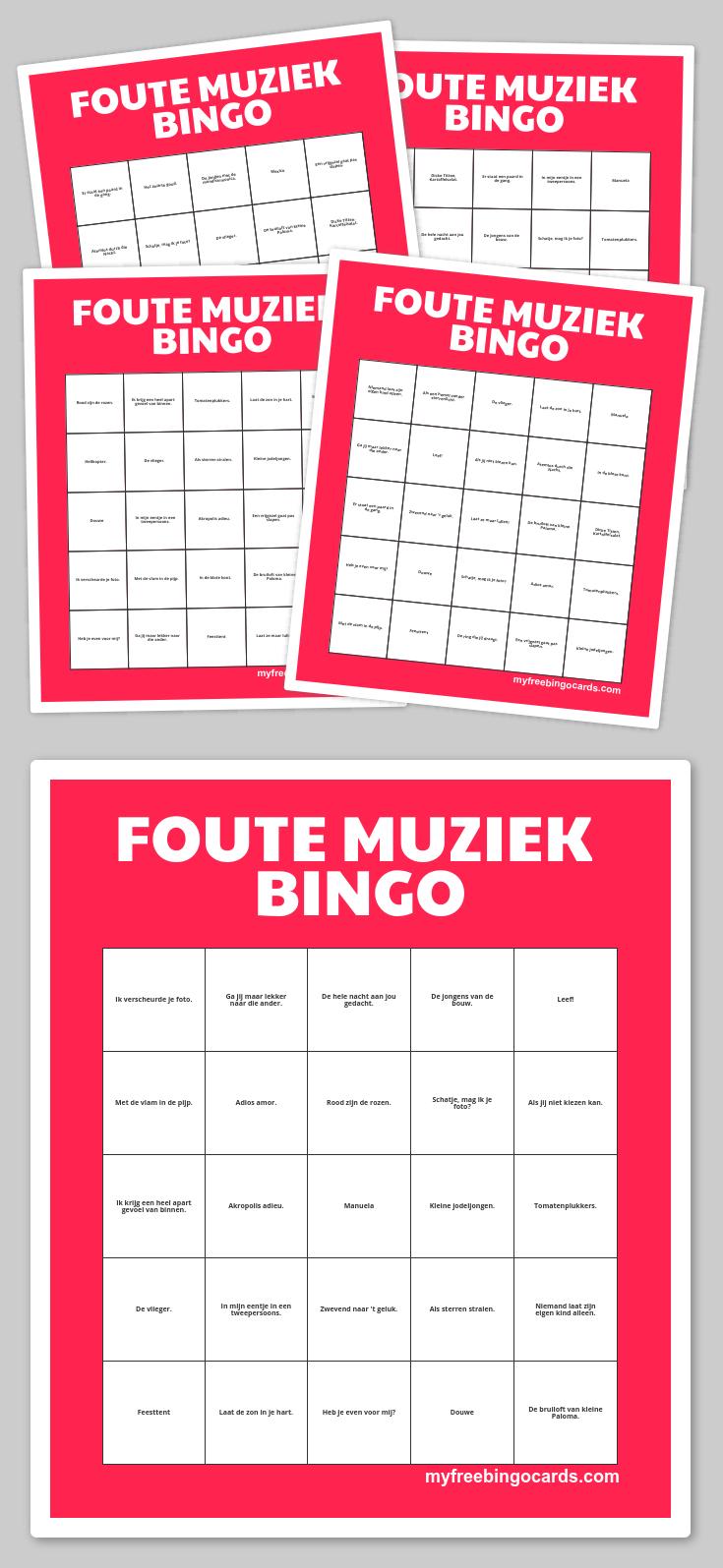 Foute Muziek Bingo | Kinderdienst, Muziek