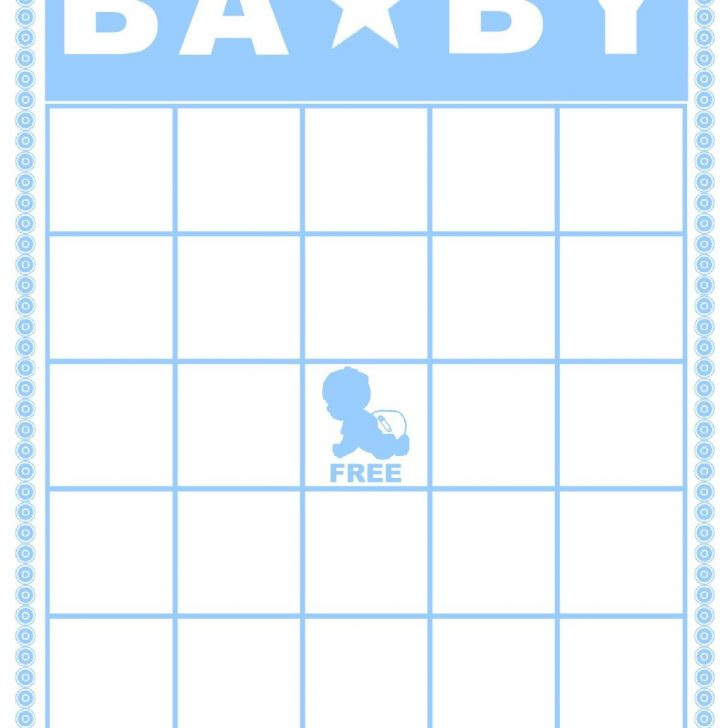 Printable Bingo Cards For Baby Girl Shower Blank Free