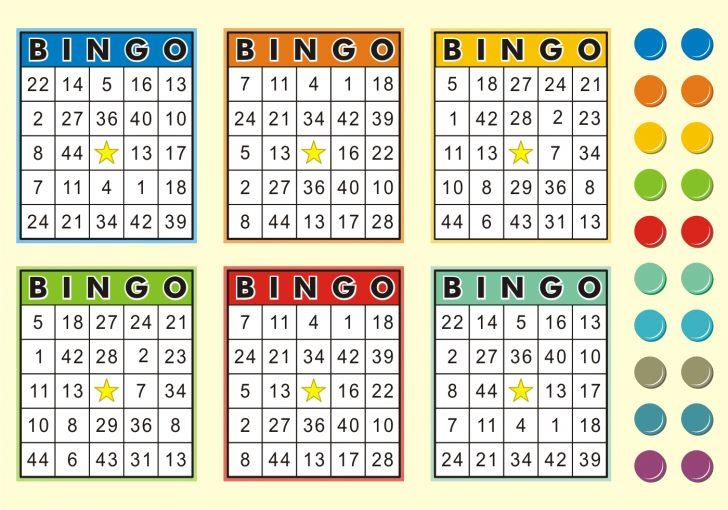 Printable Bingo Cards 6 Per Page