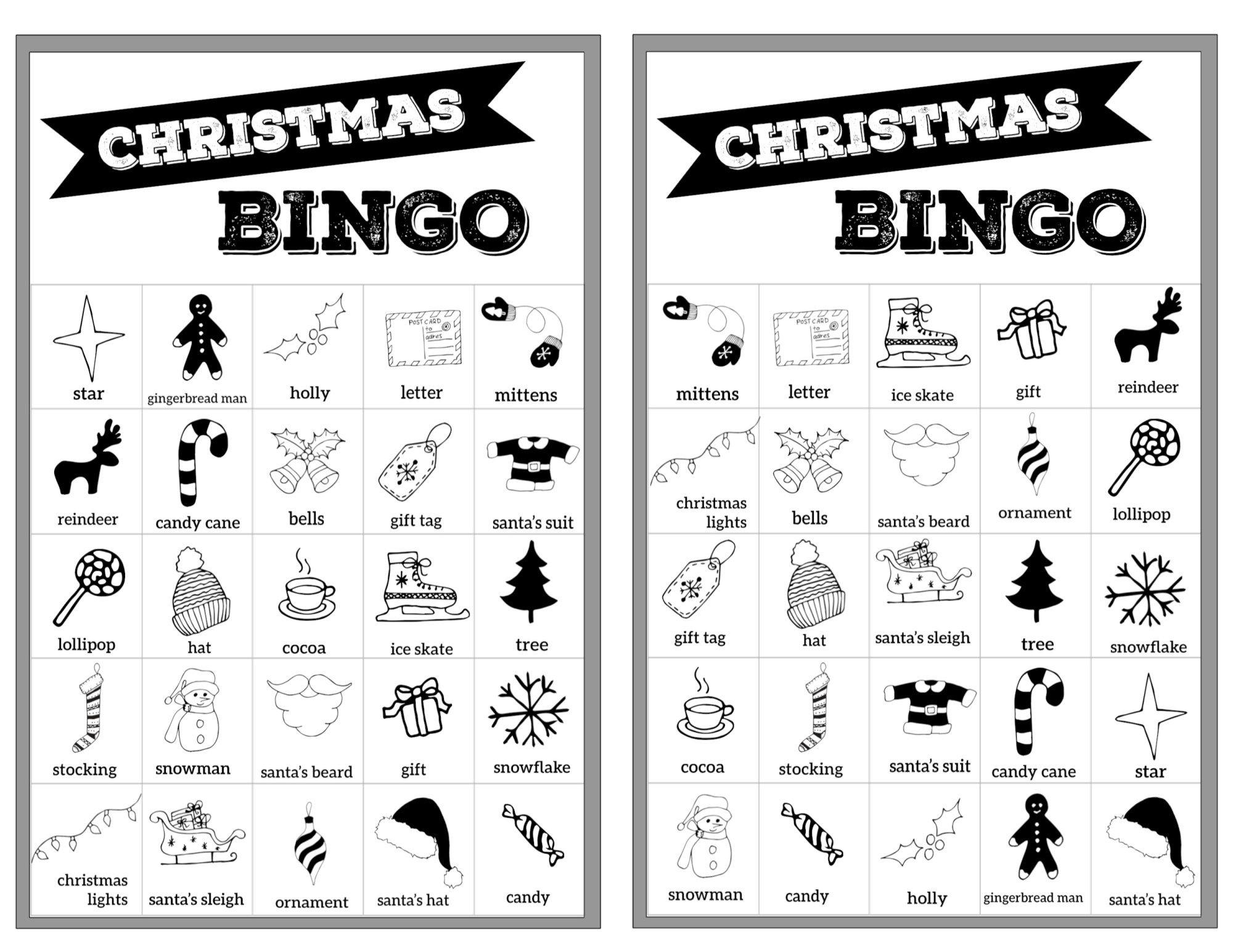 Free Christmas Bingo Printable Cards | Christmas Bingo