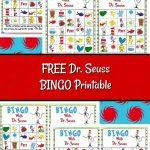 Free Dr. Seuss Bingo Printable | Dr Seuss Crafts, Dr Seuss Day