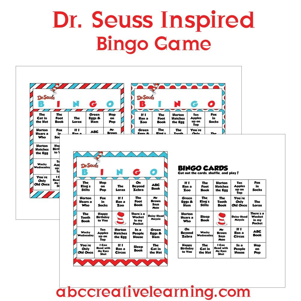 Free Dr. Seuss Inspired Bingo Cards