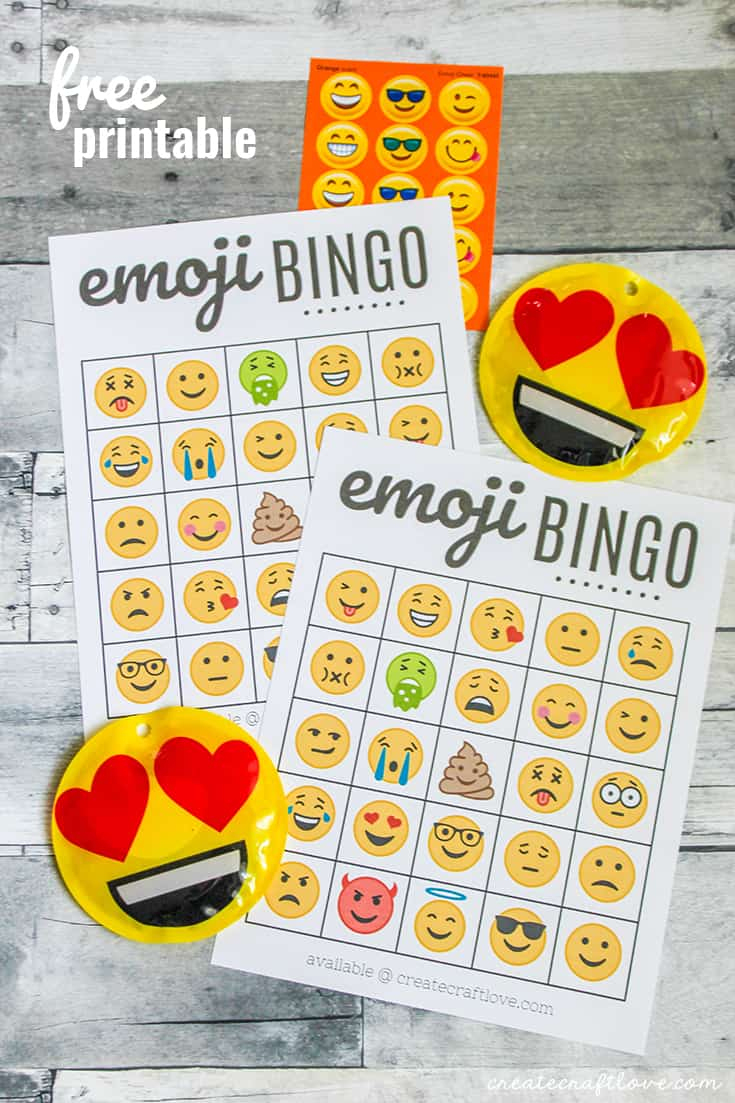 Free Emoji Bingo Printable - Create Craft Love