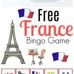 Free France Bingo Printable Game For Kids | France For Kids