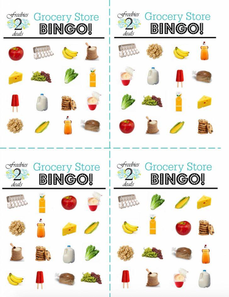 Printable Food Bingo Cards