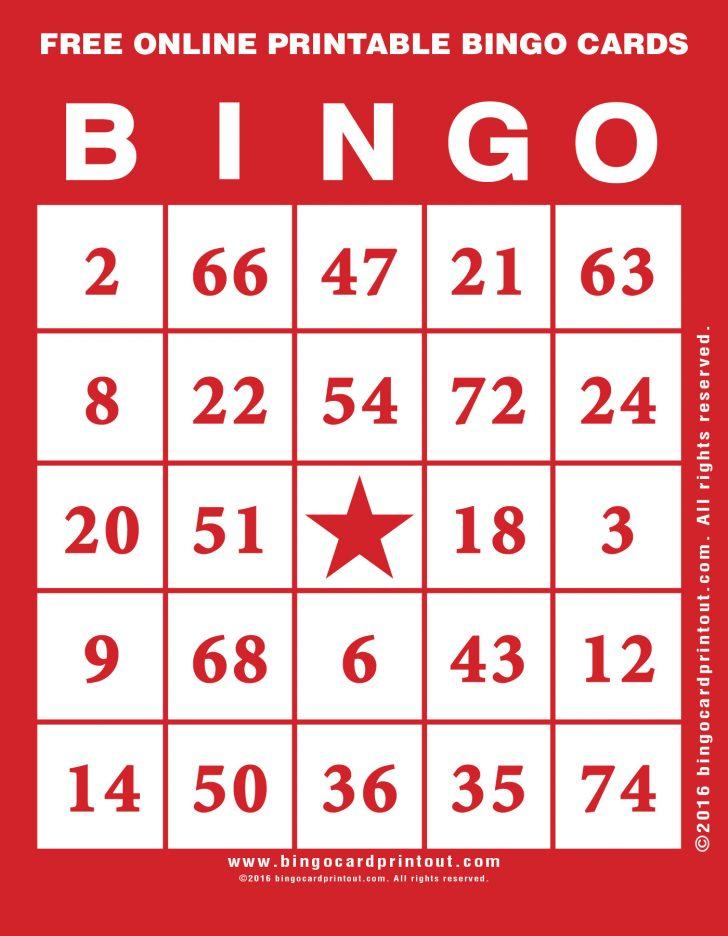 Online Bingo Printable Cards