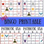 Free Patriotic Usa Bingo Printable   Summer Game | Bingo For