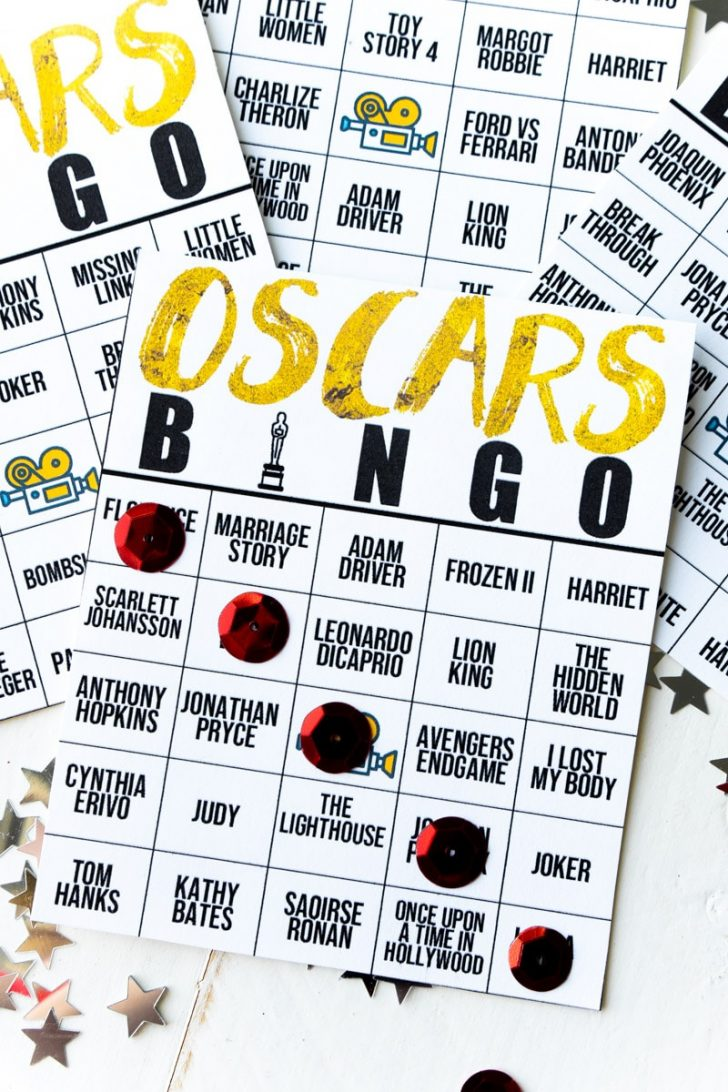 Oscar Bingo Cards Printable